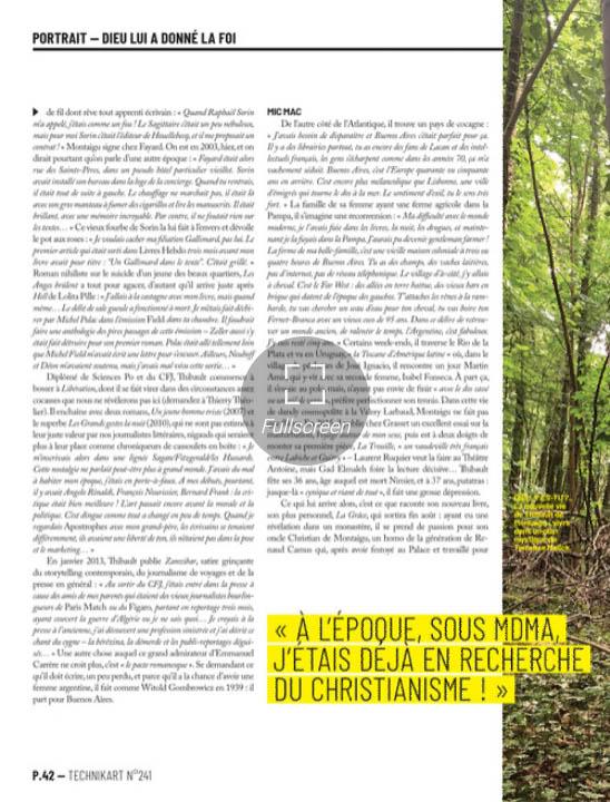 Technikart n°241, De Montaigu, La Grâce